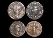 Ancient Coins - Roman Provincial, Philip I  (244-49 CE), Seleucia and Pieria, Antiochia ad Orontem, AE28 (1), Laodicea ad Mare, AE25 (1), a lot of (2) coins