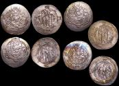 Ancient Coins - Ancient Persia, Tabaristan, Dayubid dyansty, Various Rulers (762-790 CE), Half Dirham, a lot of (4) coins
