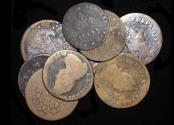 World Coins - France, Louis XIV (1643-1715), Copper Liards, mostly F, a mixed lot of (7) coins