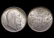 World Coins - British India,  Edward VII (1901-1910), Silver Rupee, Calcutta mint, a lot of (1) coin