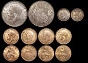 World Coins - Great Britain, George V (1910-1936), Silver Halfcrown, 1918 (1), Threepence, 1918 (1), Bronze Farthings (4), a lot of (6) coins