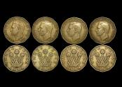 World Coins - Great Britain, George VI (1936-1952), Nickel-Brass Threepence, 1949, RARE DATE, KM# 873, VF, a lot of (4) coins