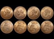 World Coins - Great Britain, George V (1910-1936), Bronze Pennies (4), dated, 1936, UNC with some lustre, a lot of (4) coins