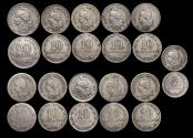 World Coins - Argentina, Copper Nickel 20, 10 and 5 Centavos, mixed dates F-VF, a lot of (11) coins