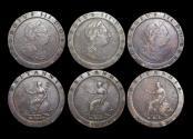 World Coins - Great Britain, George III (1760-1820), Copper Cartwheel Twopennies, 1797, Fair -VF, a lot of (3) coins