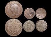 World Coins - France, 1st Republic (1792-1804), Copper 5 Centimes (1),  1 Centime (1), Empire, Napoleon I, Bonaparte (1804-1814), Billon Silver 10 Centimes (1), VF-EF, a lot of (3) coins