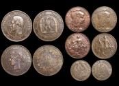 World Coins - France, 2nd Empire, Napoleon III (1852-1870) and 3rd Republic (1870-1940),EF-UNC, Bronze Minors, a lot of (5) coins