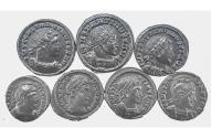 Ancient Coins - Lot of 7 London Mint Constantine the Great, Near AU