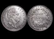 World Coins - British India, William IV (1834-1837), Silver Rupee, Calcutta mint, a lot of (1) coin