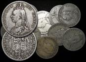 """World Coins - Great Britain, Victoria (1837-1901), """"Jubilee Head"""" Silver Halfcrowns, mixed dates, a lot of (11) coins"""