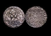 World Coins - India, Tripura, Udaya Manikya (1567-73 CE), Silver Tanka, SK1489/1568CE, 10.51g, (KM 79), EF, scarce, a lot of (1) coin