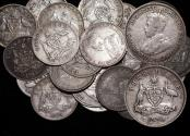 World Coins - Australia, Edward VII and George V, Silver Threepences, F- mostly VF, a lot of (24) coins