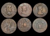 Ancient Coins - Roman Provincial, Pamphylia, Perga, a mixed lot of (3) coins