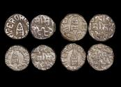 World Coins - British India, Princely States, Bundi, Silver Rupee, dated 1922-1932 CE, reads GEORGE V EMPEROR, KM18.2, EF, a lot of (4) coins