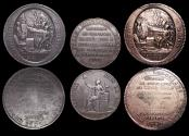 "World Coins - France, First Republic, ""Convention Nationale"" (1792-1795), Copper 5 Sols Token (2),  Copper 2 Sols Token(1), a lot of (3)"