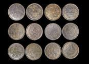World Coins - Thailand, Rama V (1868-1910), Copper Att, KM18, VF-EF, a lot of (6) coins