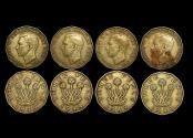 World Coins - Great Britain, George VI (1936-1952), Nickel-Brass Threepence, 1949, RARE DATE, KM# 873, VF, some staining, a lot of (4) coins