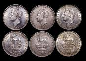 World Coins - Great Britain, George IV (1820-1834), Silver Shillings, 2nd type, 1826 (3), EF-AU, a lot of (3) coins