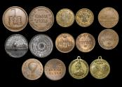 World Coins - Great Britain, a mixed lot of Victorian medalets and advertsing tokens, EF, a lot of (7)