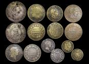 World Coins - Great Britain, George III (1760-1820), a mixed lot of Contemporary Forgeries of Bank Tokens and Regular Coinage, a lot of (7) coins