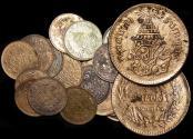 World Coins - Thailand, Rama V (1868-1910), Copper 1/2 Att, KM 17, a lot of (20) coins