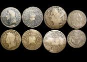 World Coins - Ireland, Cogadh an Da Ri or The War of the Two Kings, Gunmoney Coinage (1689-90) and William and Mary (1688-1694), Coppers, a lot of (4) coins