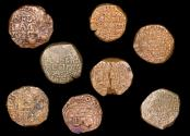 World Coins - British India, East India Company, Bombay Presidency, dated 1674, Bombay mint, Copperoon, a lot of (8) coins