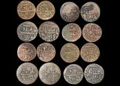 World Coins - British India, East India Co., Bengal Presidency (1815-21/1827-29 CE), Copper Pice, KM#28 (7), KM#30 (1), VF, a lot of (8) coins