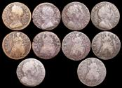 World Coins - England, Copper Farthings, Charles II (1660-1685), 1674 (1) uncertain date (1), William and Mary (1688-1694), 1694 (2), William III (1694-1702), 1699 (1), a lot of (5) coins