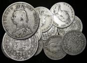 """World Coins - Great Britain, Victoria (1837-1901), """"Jubilee Head"""" Silver Halfcrowns, mixed dates, a lot of (12) coins"""