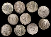 World Coins - Germany, Saxony, Frederick Albrecht (1486-1500 CE), Pfennig, a lot of (10) coins