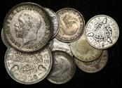 World Coins - Great Britain, George V (1910-1936), Silver Threepences (10), 1928 scarce date, F-VF, a lot of (10) coins
