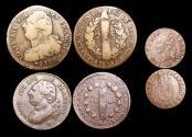 World Coins - France, Louis XVI (1774-1791), Copper 2 Sols (1), 12 Deniers (1), Liard (1), VF, a lot of (3) coins