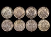 World Coins - Great Britain, George V (1910-1936), Silver Threepences, 1918 (2), 1933 (1), 1936 (1) UNC, a lot of (4) coins