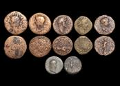 Ancient Coins - Roman Imperial Bronzes, mixed lot C1st - C2nd Centuries, a lot of (6) coins