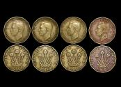 World Coins - Great Britain, George VI (1936-1952), Nickel-Brass Threepence, 1946 RARE DATE (2) KM# 873, 1949 RARE DATE (1), 1951 (1) KM# 873, VF, a lot of (4) coins