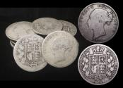 """World Coins - Great Britain, Victoria (1837-1901), """"Young Head"""" Silver Halfcrowns, mixed dates, a lot of (20) coins"""
