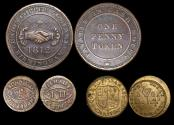 World Coins - English and Irish Tokens and Coin Weights, 17th-18th century, a lot of (3) coins