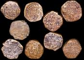 World Coins - British India, East India Company, Bombay Presidency, dated 1674, Bombay mint, Copperoon, a lot of (9) coins