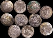 Ancient Coins - Ancient Persia, Tabaristan, Dayubid dyansty, Various Rulers (762-790 CE), Half Dirham, a lot of (5) coins