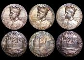 World Coins - Great Britain, Edward VIII (1936), Silver Medal, 1911, Investisture as Prince of Wales (3), a lot of (3) medals