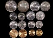 World Coins - Switzerland, Mixed Date Set of 8 Coins, UNC, a lot of (8) coins
