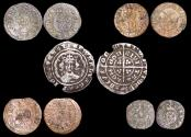 World Coins - England, Edward (1327-1377), Silver Halfgroat, London mint (1), Charles I (1625-49), Copper Farthings (3), Scottish Copper Twopence (1), a lot of (5) coins