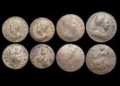 World Coins - Great Britain, George II, Farthings (2), George III, Halfpennies (2), a lot of (4) coins