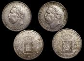 World Coins - Portuguese India, Luiz I (1861-1889), Silver Rupia, 1881, KM312, EF, a lot of (2) coins