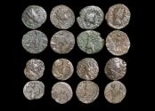 Ancient Coins - Roman Empire, Crisis of the Third Century, Gallic Empire, Barbarous Radiate Imitations, in imitation of Tetricus I and II, struck c.250-c.280 CE, a lot of (8) coins