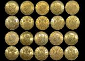 World Coins - Great Britain, George VI (1936-1952), Brass Threepences, dated 1937 (10), UNC, a lot of (10) coins