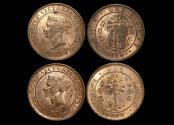 World Coins - Ceylon, Victoria (1837-1901), Copper 1 Cent, 1870 (1), 1890 (1) KM 92, a lot of (2) coins