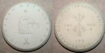 World Coins - German white porcelain medal, 1922, Dresden - war memorial