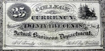 College currency - 25 cents - uncirculated